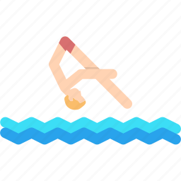 aquatics, diving, olympics, pool, sports, swimming, water icon