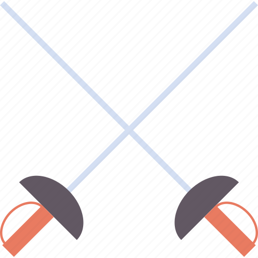 combat, cross, duel, fencing, fight, olympics, swords icon