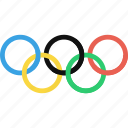 games, olympics, rings, sports icon