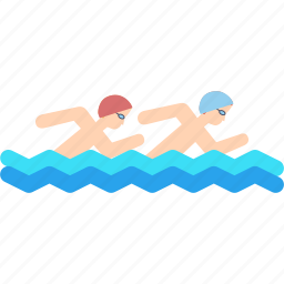 marathon, olympics, pool, swim, swimming, synchronised, water icon