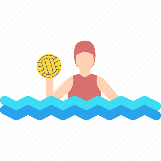 aquatics, ball, game, olympics, polo, swimming, water icon