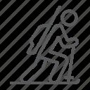 athlete, biathlon, skier, sport, winter icon