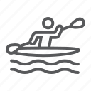 canoeing, rowing, kayaking, man, sport, kayak, canoe icon