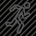 fast, fitness, jogging, man, runner, running, sport icon