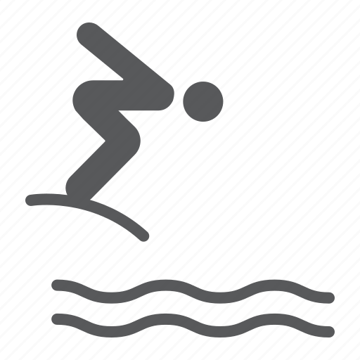 diver, diving, jump, man, sport, swim, water icon