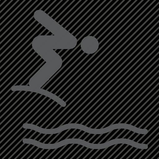 Diver, diving, jump, man, sport, swim, water icon - Download on Iconfinder
