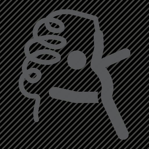 dance, gymnast, gymnastic, rhytmic, ribbon, sport icon