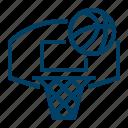 basketball, ring, hoop icon