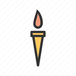 flame, games, greece, holding, olympic, sport, torch icon