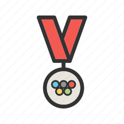 bronze, games, gold, medal, metal, olympics, silver icon