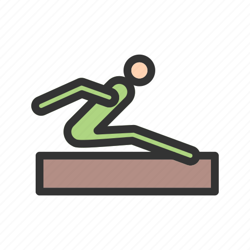 field, high, jump, long, olympic, sand, track icon