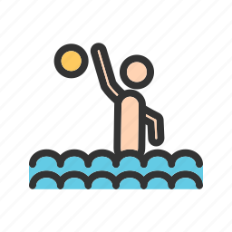 game, goal, match, olympic, polo, swimming, water icon