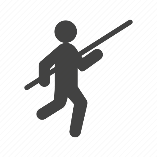 athlete, bar, field, jump, olympic, pole, vault icon