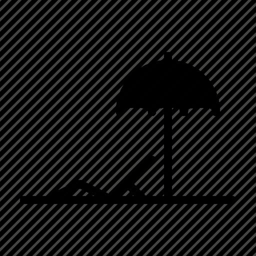 beach, cary, holiday, shoping, summer, umbrella icon