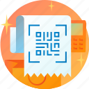 code, coding, onboarding, qr, qrcode, receipt, scan icon