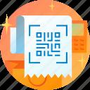 code, coding, qr, qrcode, receipt, scan icon