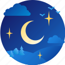 greeting, hello, moon, night, welcome icon