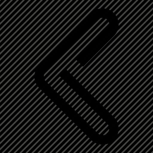 arrow, back, left, leftarrow, oneline, return icon