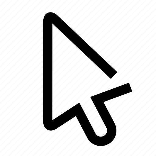 arrow, mouse, oneline, pointer icon