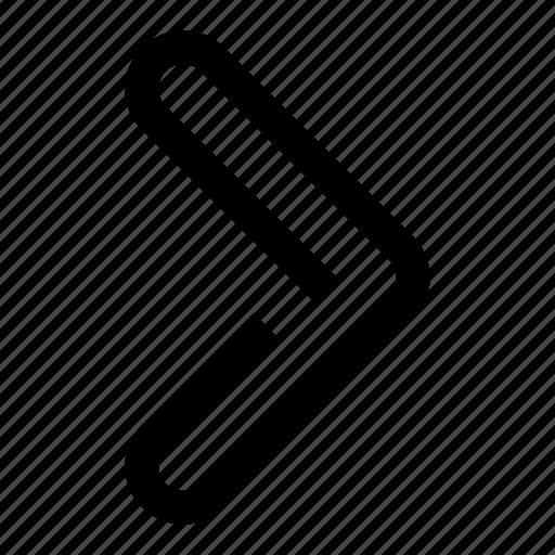 arrow, direction, forward, next, oneline, right, rightarrow icon