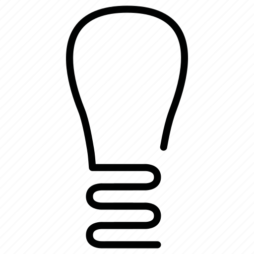 bulb, lamp, torch icon