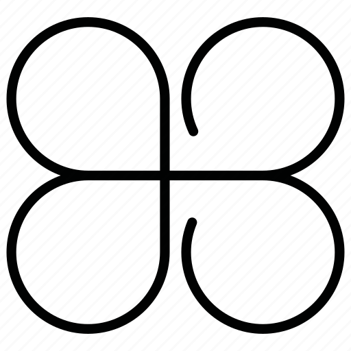 flower, four-leaf clover icon