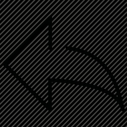 arrow, bolt, indicator, left icon