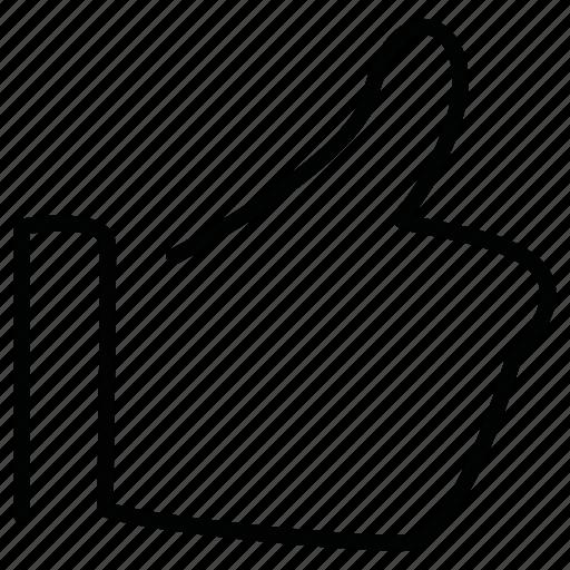 hand, like, okay, thumb icon