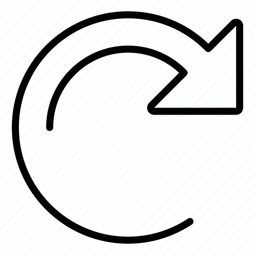 arrow, refresh icon