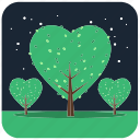 plant, nature, tree, trees, forest, stars, night icon