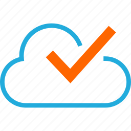 business, check, cloud, development, web icon