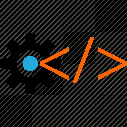 business, code, development, gear, web icon