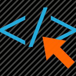 business, click, code, development, web icon