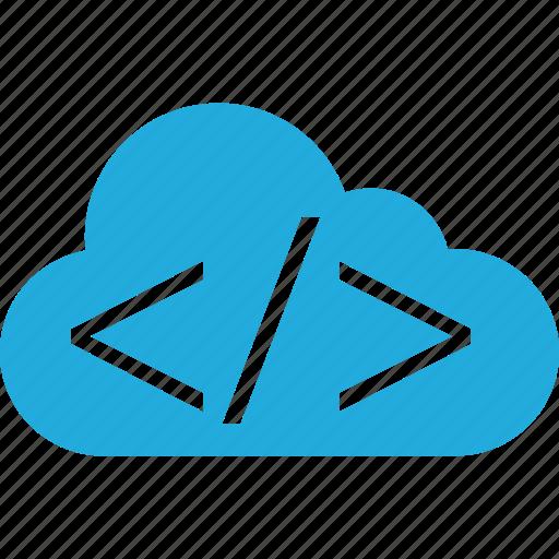 business, cloud, code, development, web icon
