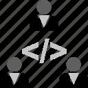 code, development, script, techonology, web, webdevelopment icon