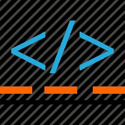 business, code, development, lines, web icon