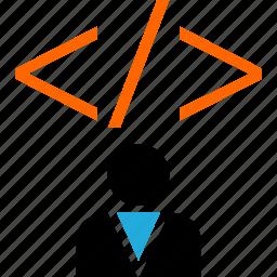 code, person, profile, user icon