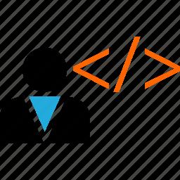 coder, development, programmer, web icon