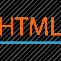 business, code, development, html, line, web icon