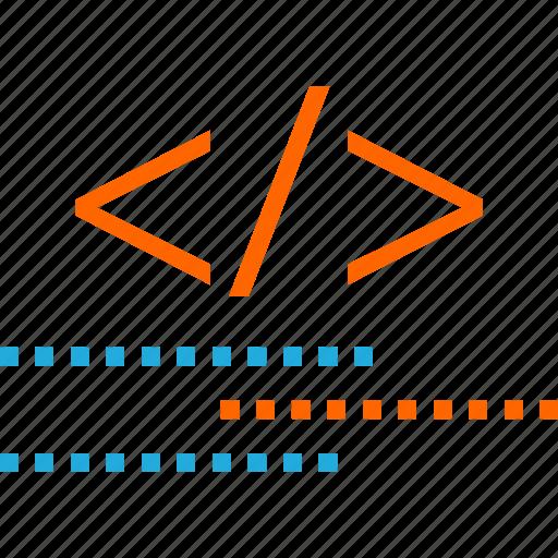 business, code, development, language, script, web icon