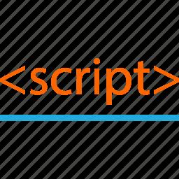 business, code, development, line, script, web icon