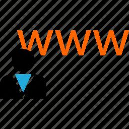 business, development, visit, web, www icon