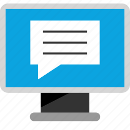 chat, facebook, internet, online, seo, talk, web icon
