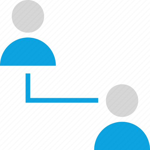 connect, internet, online, seo, two, users, web icon