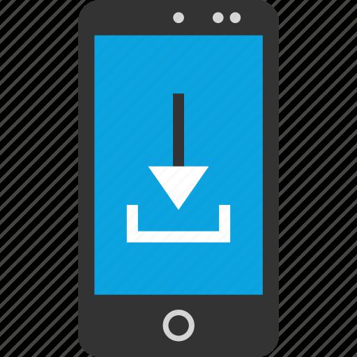 arrow, down, internet, online, phone, seo, web icon