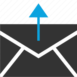 arrow, email, internet, online, send, seo, web icon