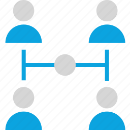 four, group, internet, online, seo, team, web icon