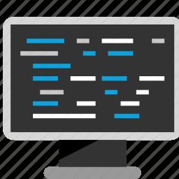 code, coding, css, hacker, hacking, html, webdevelopment icon