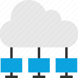 cloud, computer, net, network, networking, storage, stream icon
