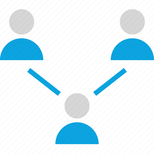 connect, internet, online, seo, three, users, web icon